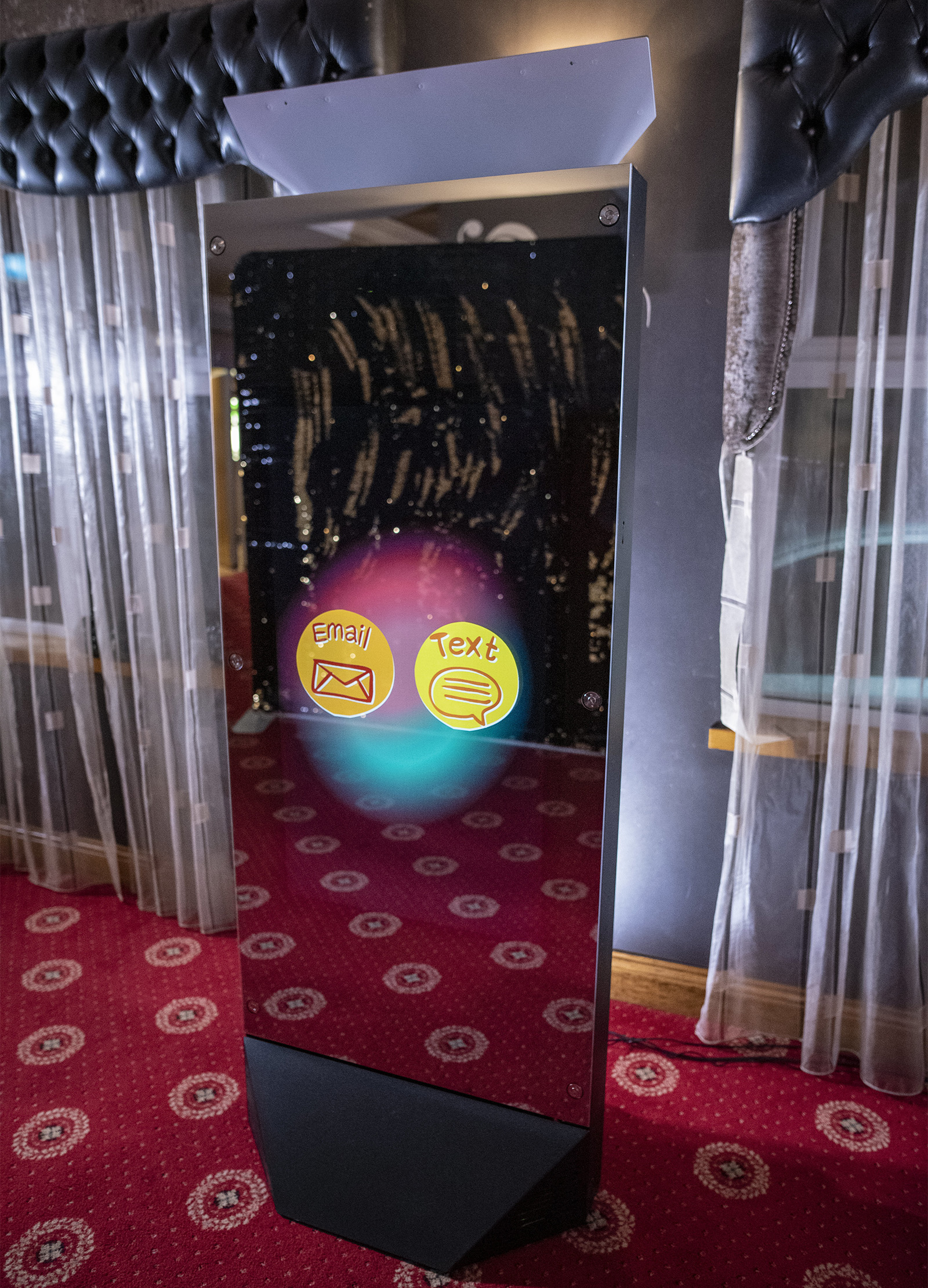MIRROR X GIANT (6ft tall) Magic Mirror Photo Booth Rental
