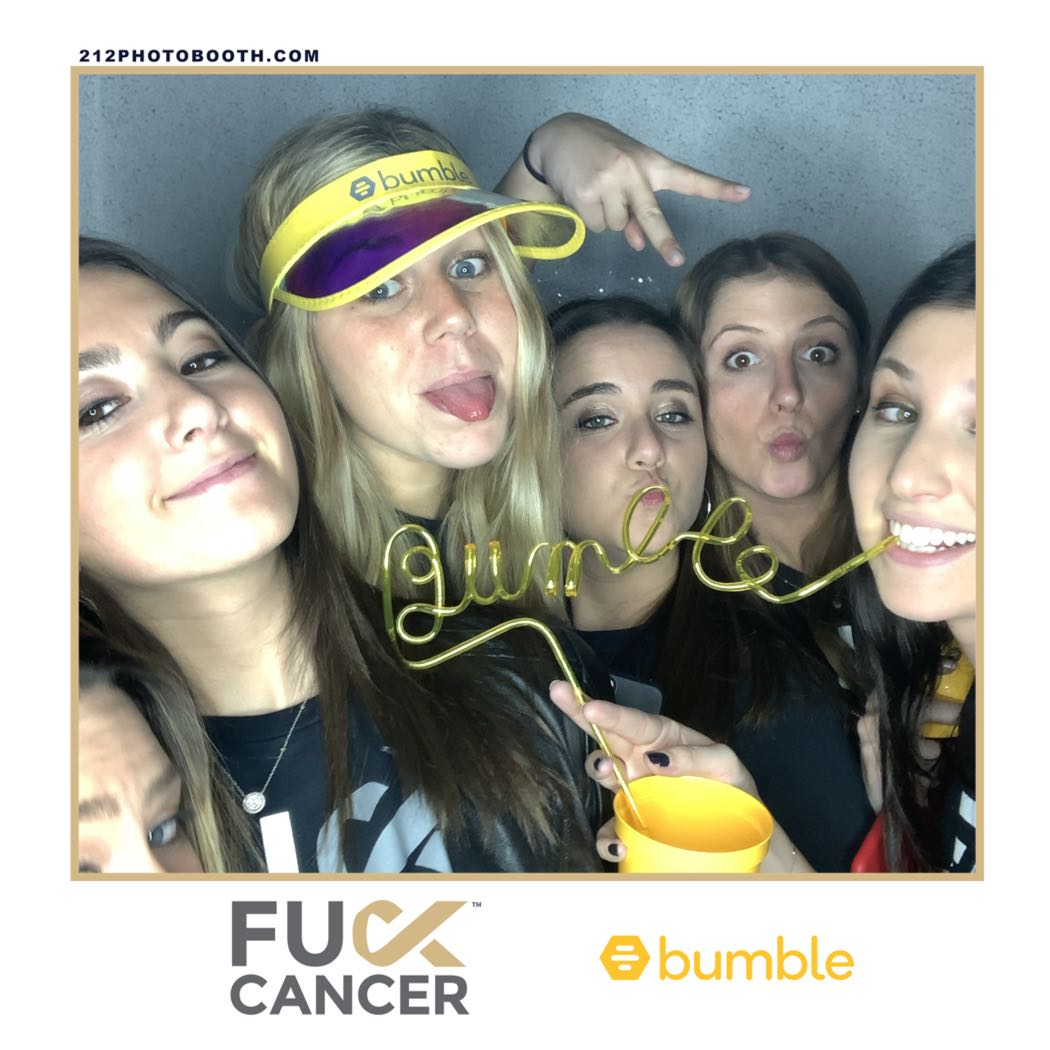 Bumble F Cancer Selfie Photo Booth Rental