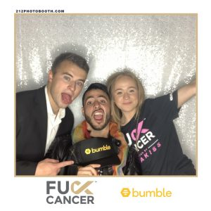 Bumble Selfie Station Portfolio Bumble hosts F Cancer PSD Photo Booth Rental Branded Media